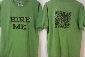 I made several of these shirts in several different colors for the #ala10 conference and wore them all weekend. The QR Code does indeed work.
