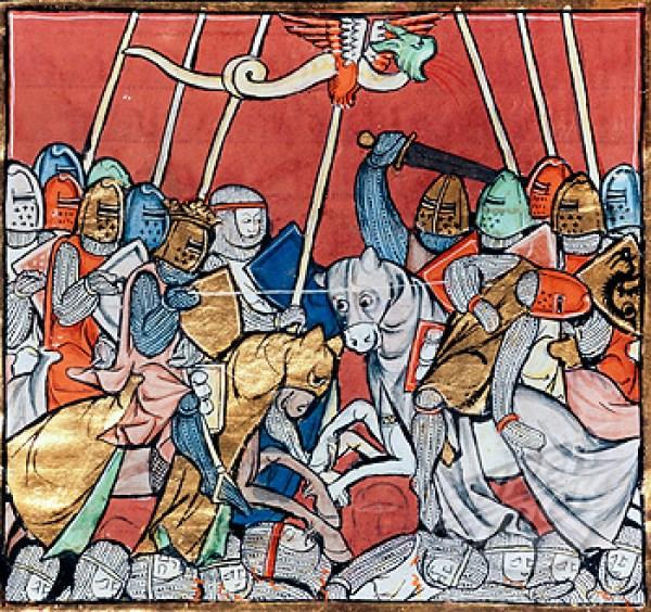 King Arthur In Combat, By Robert De Barron (14th Century)
