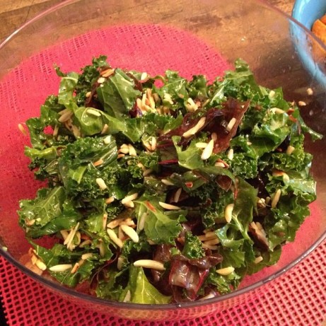 Kale_and_chard_salad_with_almonds_and_lemon_garlic_dressing.