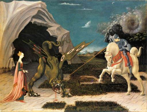 St. George and the Dragon by Paulo Uccello (1397 - 1475), via Wikimedia Commons
