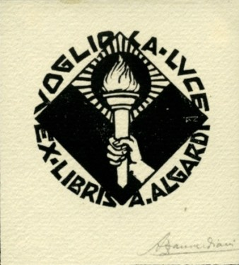 Alberto Zanverdiani. Ex libris para A. Albardi