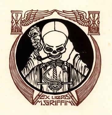 Alberto Zanverdiani. Ex libris para M. Griffini.