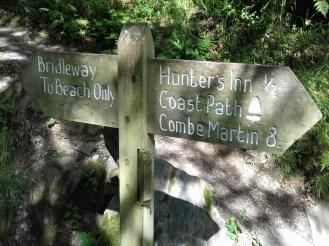 SW Coast Path Heddon Valley