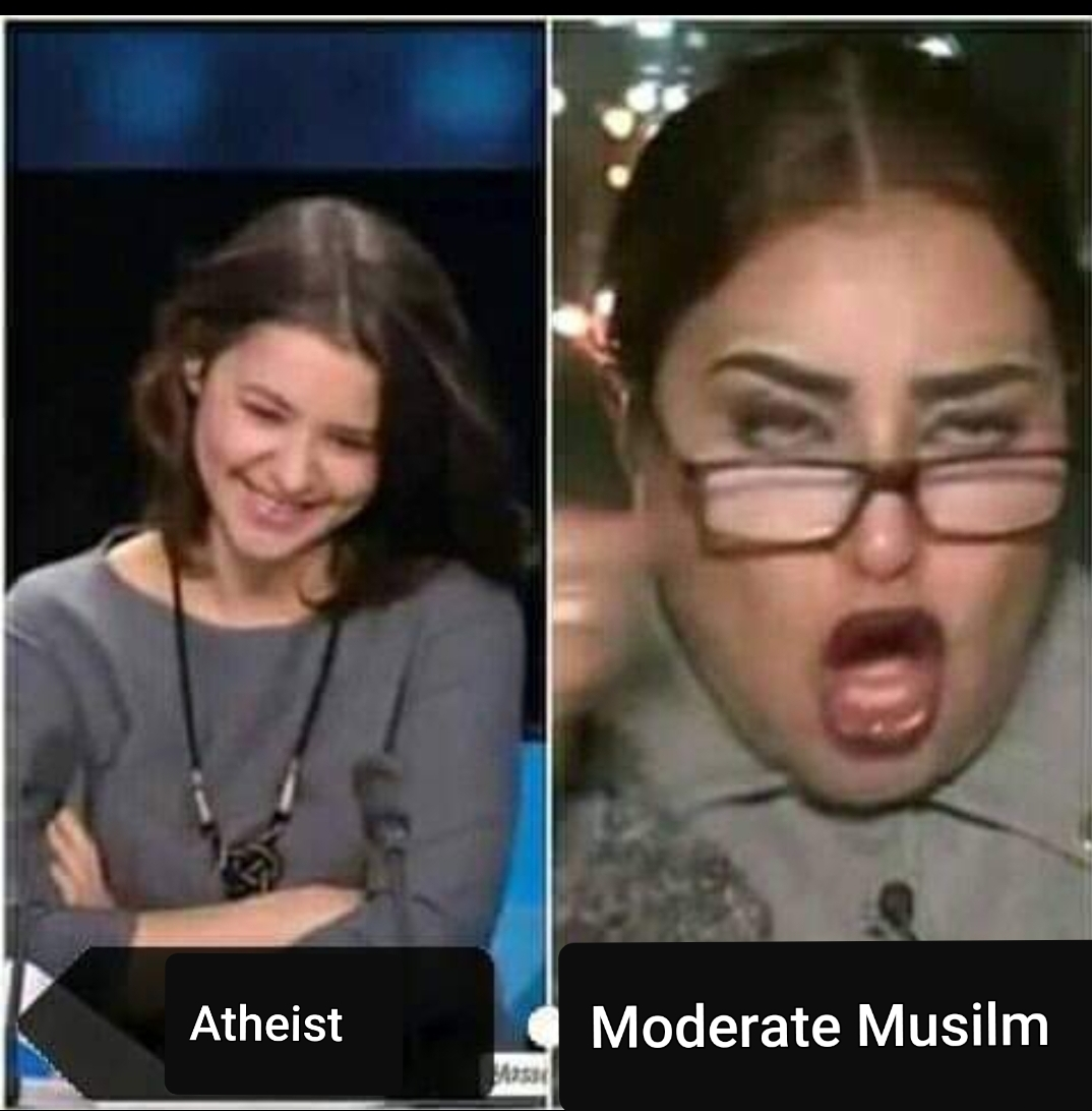 Atheist moderate muslim debate funny