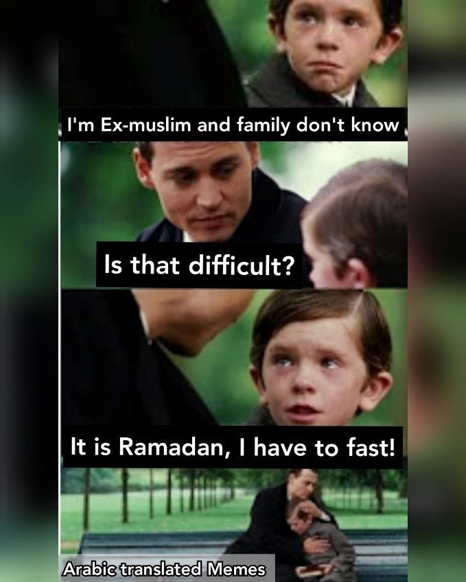 Ramadan eating pretend ex-muslim exmuslim fasting