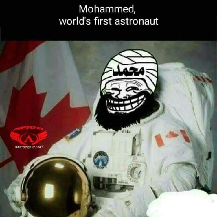Muhammad astronaut baraq flying donkey Mohammed funny