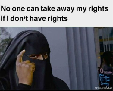 Women : No one can take away my right.