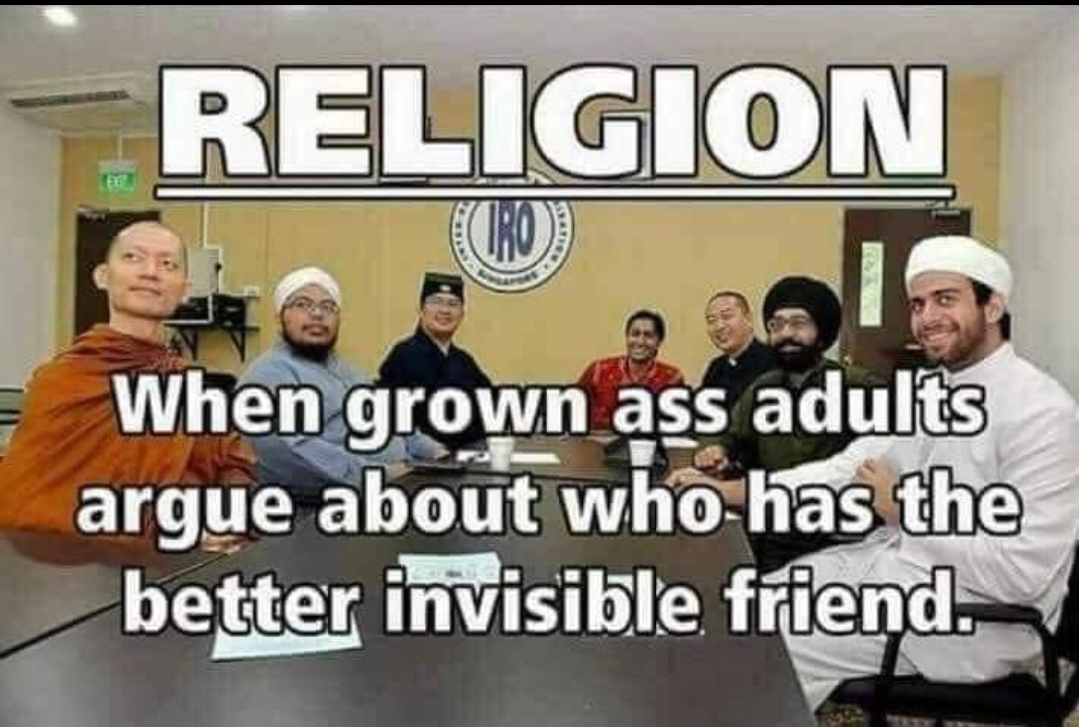 religion grown adults invisible friend conference meeting