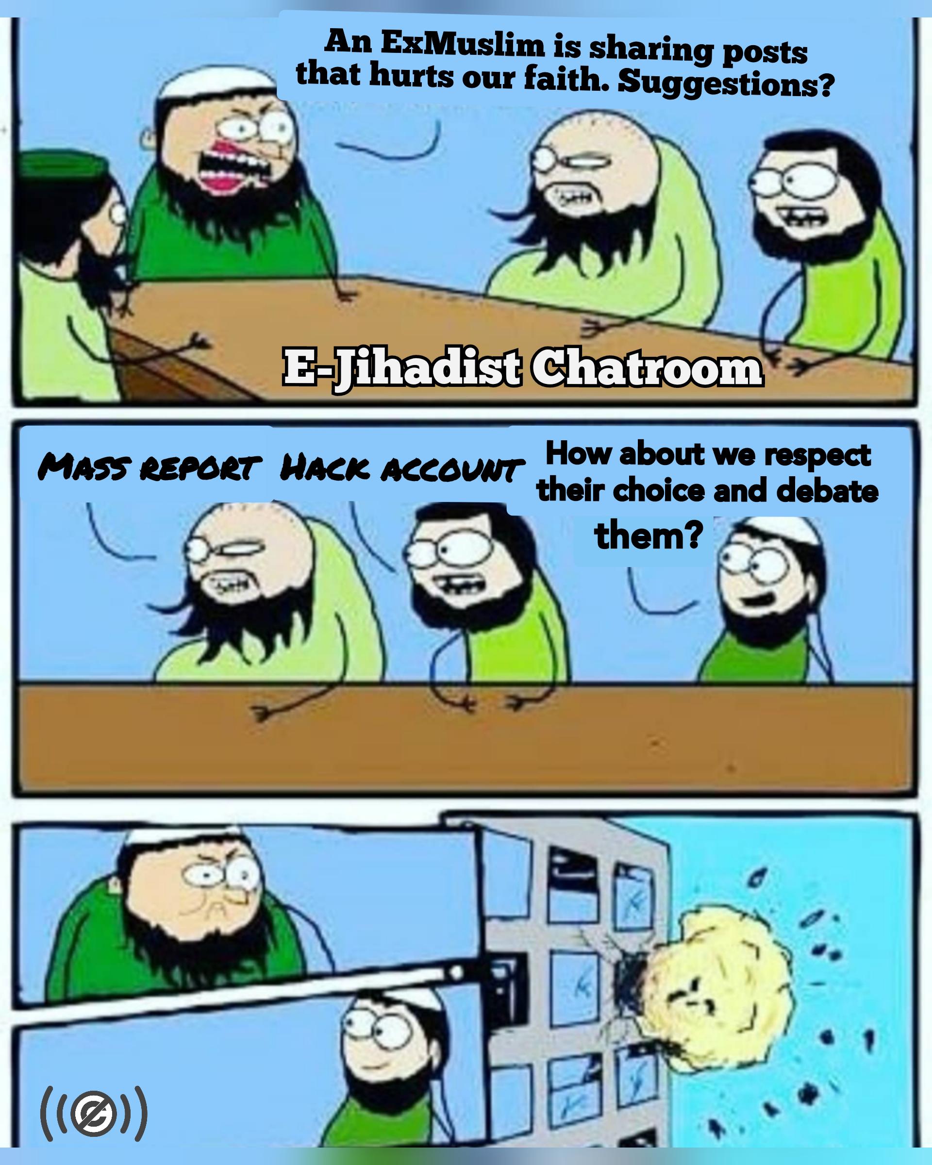 e-jihadists spreading mass reporting