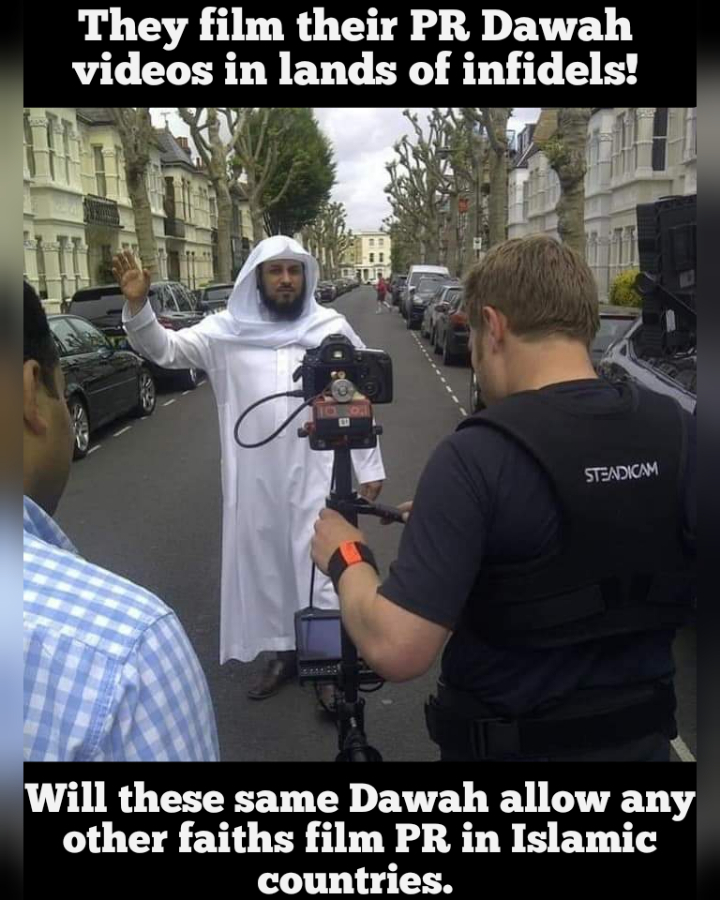 Dawah in the West but no Dawah in the middle east by other faiths.