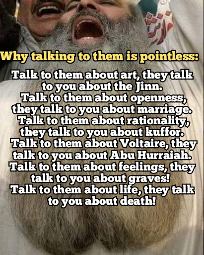 Why it is pointless to argue with them.