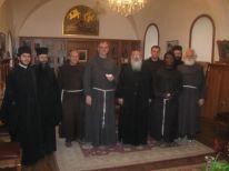 visiting the Greek Orthodox monks