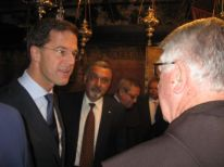 27. Mark Rutte talking with Dutch friar Gerard van Buul