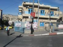 02. black flags on UNRWA building because of the strike
