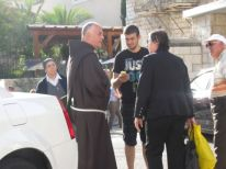 10. father Amjad in Nazareth
