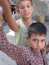 10. boys in Al Azza camp