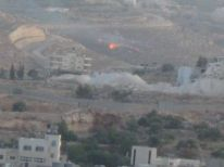 22. a firee caused by rocket from Gaza