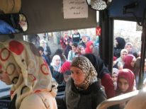 05. young women enter the bus to Jerusalem