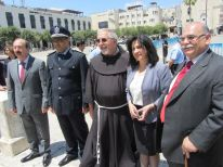 18. a friar with the mayor of Bethlehem