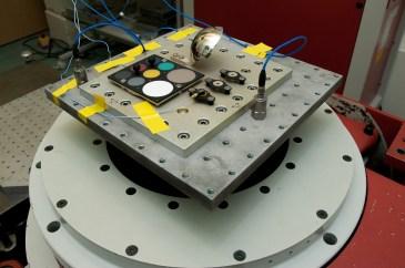 The PanCam Small Items undergoing a qualification vibration test at MSSL. Image Credit: M. de la Nougerede, UCL/MSSL 2018 https://flic.kr/p/Gs3jGY
