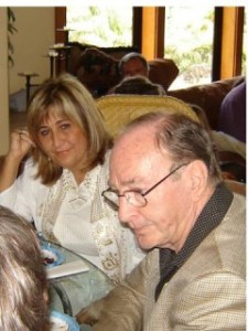 Edgar Mitchell with Paola Harris