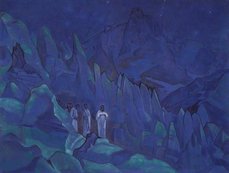 Nicolas Roerich allusion to intraterrestrial masters of wisodm
