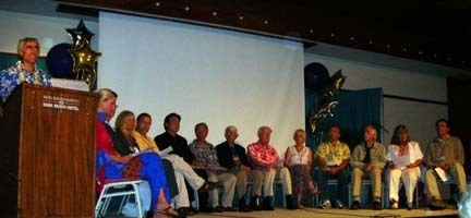 Final speaker panel from 2006 ET Civilization and World Peace Conference adopting Conference Declaration