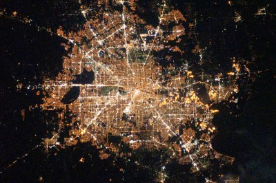 Houston By Night (courtesy NASA)
