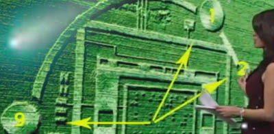 KSBW TV covers Salinas crop circle with Comet ISON in background