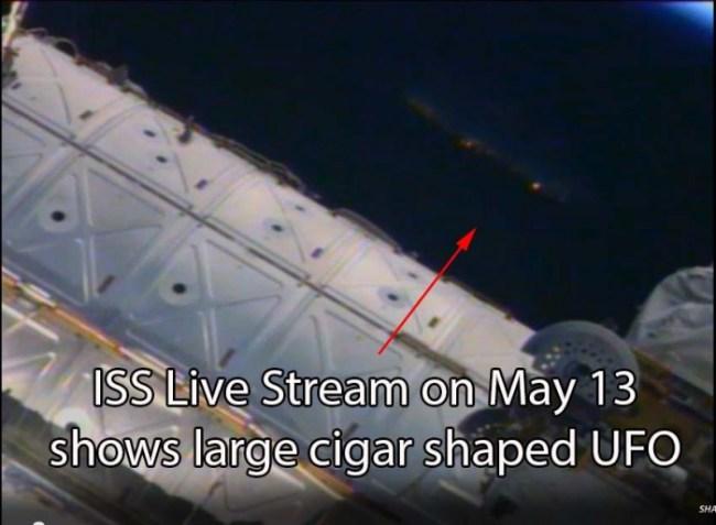 Screenshot of ISS live video stream