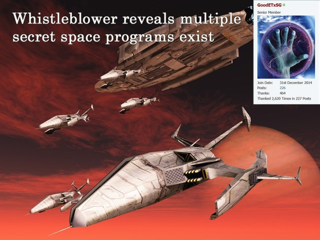multiple secret space programs