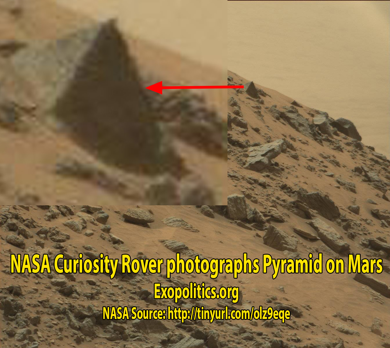 NASA Curiosity Rover photographs pyramid on Mars » Exopolitics