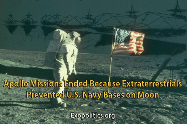 ETs Prevented Navy Bases on Moon