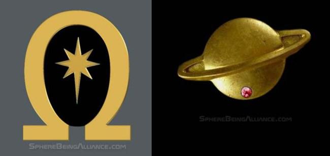 omega and saturn symbols