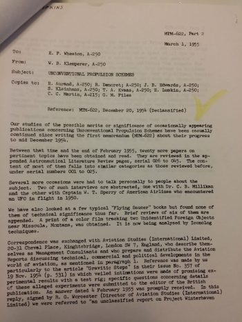 Douglas Memo on Antigravity Research