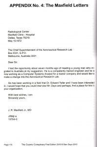 Maxfield Letter 1