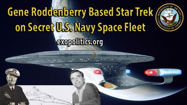 Rodenberry based Start Trek on US Navy