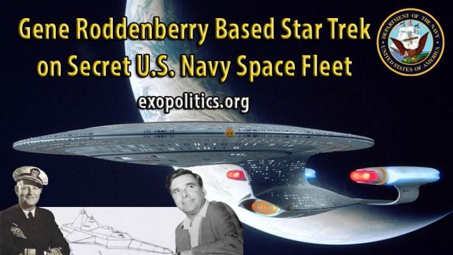 Rodenberry based Start Trek on US Navy