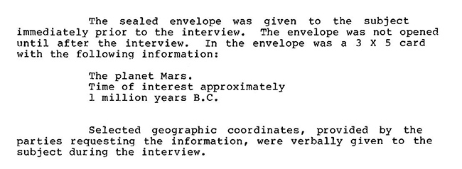 CIA Used Remote Viewing to Learn about Mars Pyramids & Inhabitants