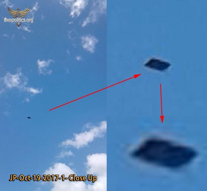 Преднамеренное раскрытие: антигравитационное судно появляется вблизи ВВС США JP-1-close-up