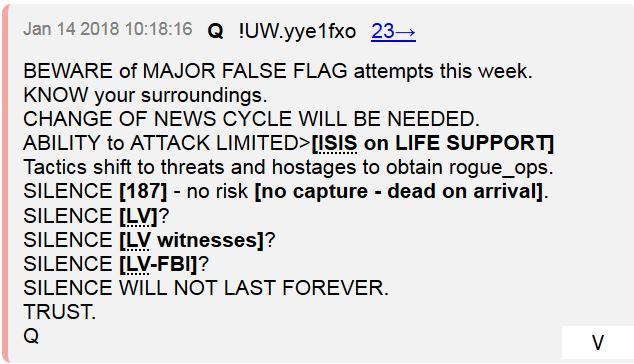 QAnon Corroborates Hawaii Missile Attack \u0026 Hunt for Rogue CIA