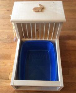 rabbit litter box and hay feeder online