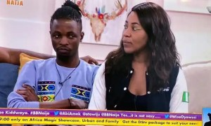 Laycon's reaction after Erica picked Kiddwaya as her Deputy HOH | www.exoticempire.com.ng