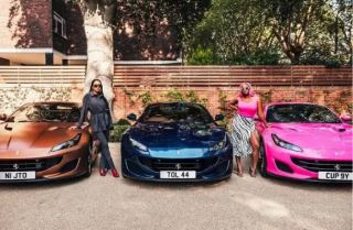 Billionaire Femi Otedola buys 3 Ferraris for his 3 Daughters,Davido reacts