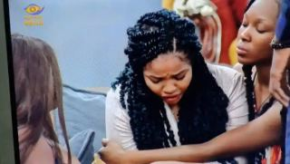 #BBNaija: Moment Nengi broke down in tears after Ozo gets evicted from the house(Video)