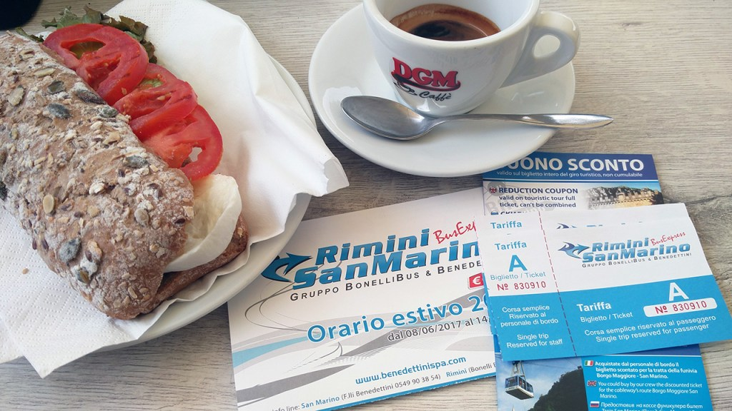 Bus tickets to San Marino from Rimini