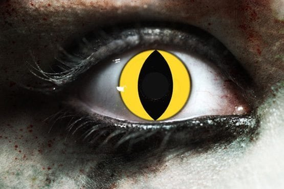 Yellow Cat Gothika Contact Lenses