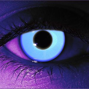 Rave Blue UV Gothika Contact Lenses