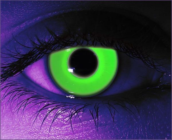 Green UV Gothika Contact Lenses