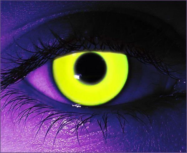 Yellow UV Gothika Contact Lenses